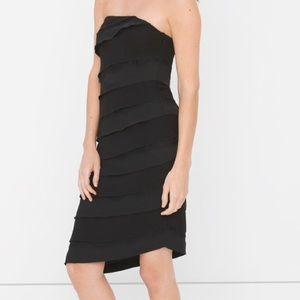 NWT White House Black Market Strapless Tier Dress